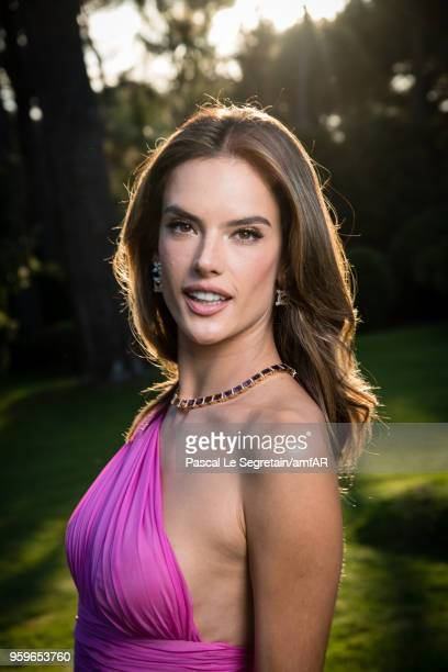 Alessandra Ambrosio poses for portraits at the amfAR Gala Cannes 2018 cocktail at Hotel du CapEdenRoc on May 17 2018 in Cap d'Antibes France
