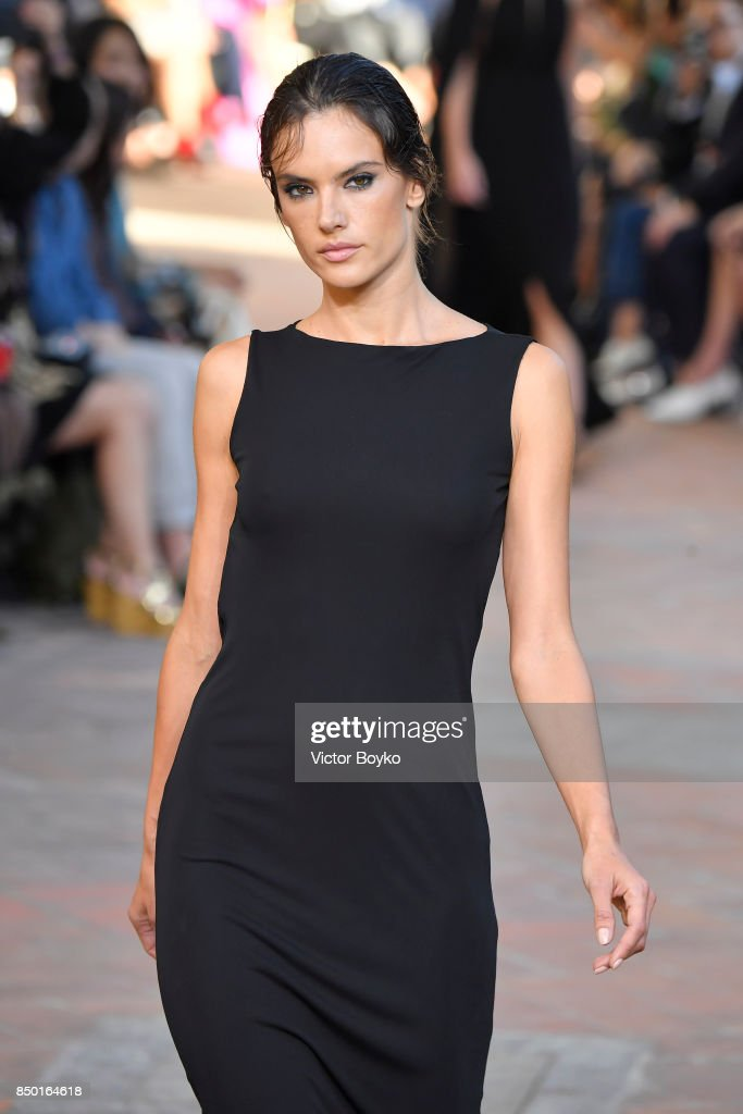 Alessandra Ambrosio walks the runway at the Alberta Ferretti show during Milan Fashion Week Spring/Summer 2018 on September 20, 2017 in Milan, Italy.