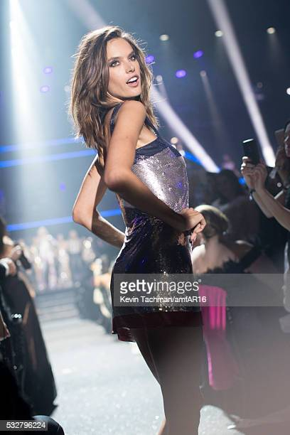 Alessandra Ambrosio walks the runway at the amfAR's 23rd Cinema Against AIDS Gala at Hotel du CapEdenRoc on May 19 2016 in Cap d'Antibes France