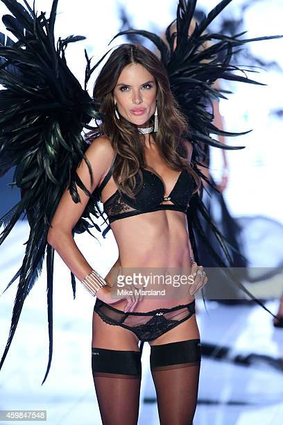 Alessandra Ambrosio walks the runway at the annual Victoria's Secret fashion show at Earls Court on December 2 2014 in London England