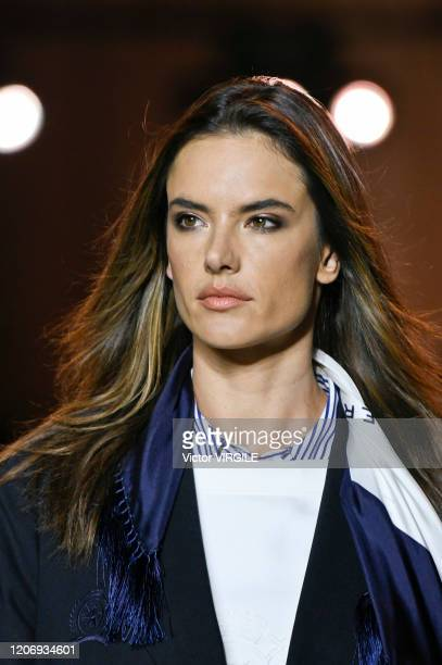 Alessandra Ambrosio walks the runway at the Tommy Hilfiger Ready to Wear Spring/Summer 2020 fashion show during London Fashion Week on February 16...