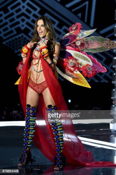 Alessandra Ambrosio walks the runway during the 2017 Victoria's Secret Fashion Show In Shanghai at MercedesBenz Arena on November 20 2017 in Shanghai...