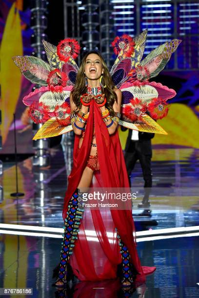 Alessandra Ambrosio walks the runway during the 2017 Victoria's Secret Fashion Show In Shanghai at MercedesBenz Arena on November 20 2017 in Shanghai...
