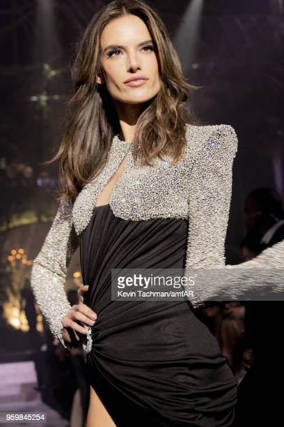 Alessandra Ambrosio walks the runway during the amfAR Gala Cannes 2018 fashion show at Hotel du CapEdenRoc on May 17 2018 in Cap d'Antibes France
