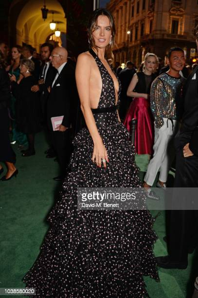 Alessandra Ambrosio, wearing Philosophy, attends The Green Carpet Fashion Awards Italia 2018 at Teatro Alla Scala on September 23, 2018 in Milan,...