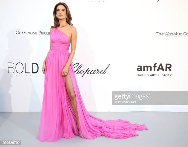 Alessandra Ambrosioarrives at the amfAR Gala Cannes 2018 at Hotel du CapEdenRoc on May 17 2018 in Cap d'Antibes France