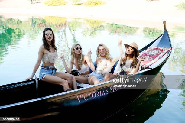 Alessandra AmbrosioMartha Hunt Romee Strijd and Jasmine Tookes attend Victoria's Secret Angels Celebrate the Sexy Little Things Launch at the Angel...