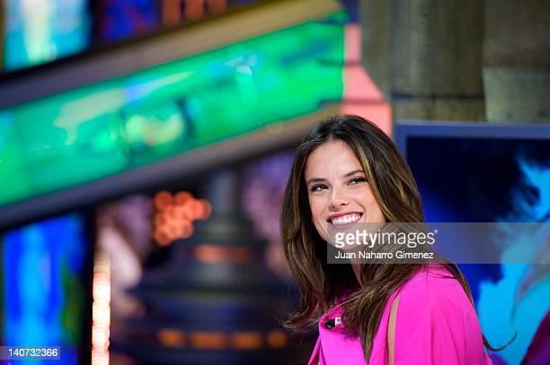 "Alessandra Ambrossio attends ""El Hormiguero"" TV show at Vertice 360 Studio on March 5, 2012 in Madrid, Spain."