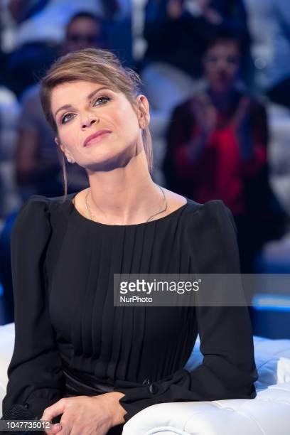 Alessandra Amoroso attends 'Domenica In' TV show at the Studio RAI Fabrizio Frizzi in Rome Italy on October 7 2018
