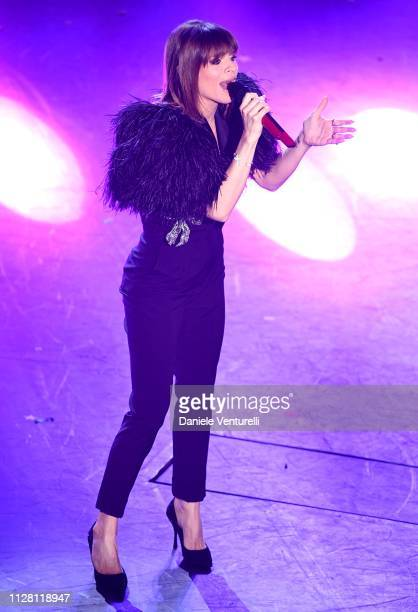 Alessandra Amoroso on stage during the third night of the 69th Sanremo Music Festival at Teatro Ariston on February 07 2019 in Sanremo Italy