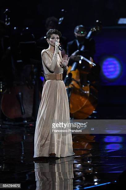 Alessandra Amoroso performs at Bocelli and Zanetti Night on May 25 2016 in Rho Italy