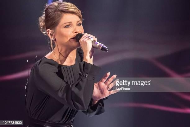 Alessandra Amoroso performs during 'Domenica In' TV show at the Studio RAI Fabrizio Frizzi in Rome Italy on October 7 2018