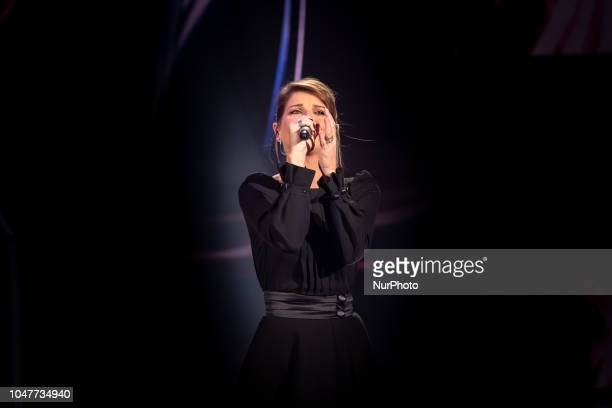 Alessandra Amoroso performs during 'Domenica In' TV show at the Studio RAI Fabrizio Frizzi in Rome Italy on October 7 2018