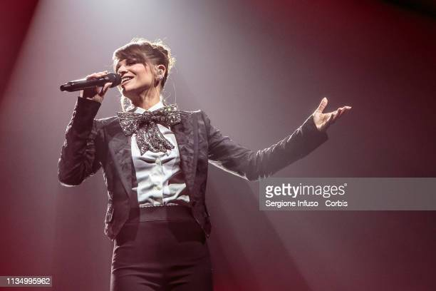 Alessandra Amoroso performs on stage at Mediolanum Forum on March 10 2019 in Milan Italy