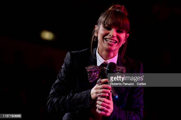 Alessandra Amoroso performs on stage at Palazzo dello Sport on March 20 2019 in Rome Italy