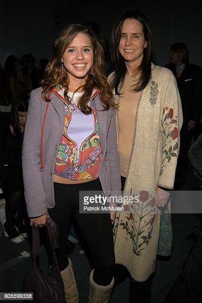 Alessandra Balazs and Katie Ford attend Naeem Khan Fall 2006 Fashion Show at The Tent at Bryant Park on February 5 2006 in New York City