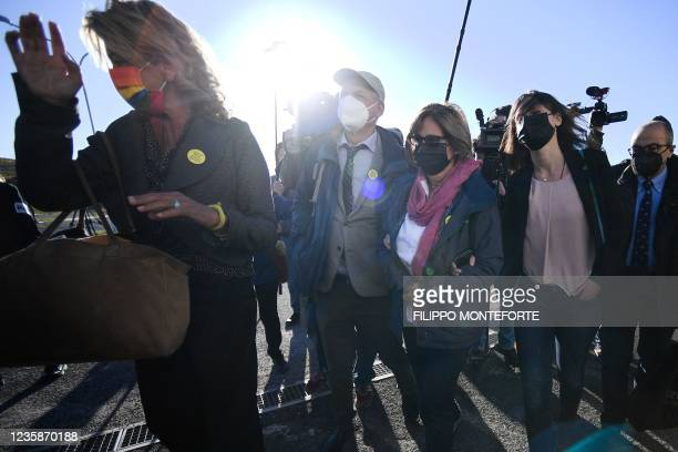 Alessandra Ballerini , the lawyer of the parents of Giulio Regeni, Giulio Regeni's parents Claudio Regeni , Paola Regeni and Giulio Regeni's sister...