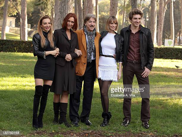 Alessandra Barzaghi Maria Bolignano Marco Columbro Gaia Bermani Amaral and Alan Cappelli attend 'Baciati Dall'Amore' TV series photocall at Casa del...