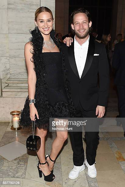 Alessandra Brawn and Jon Neidich attend the CHANEL Fine Jewelry Dinner supporting treasures from the New York Public Library Collection at the New...
