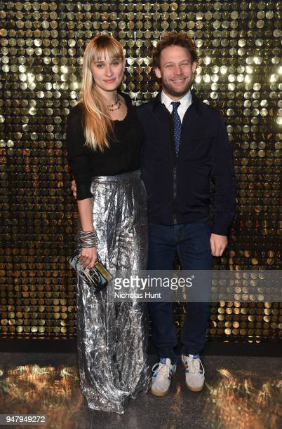 Alessandra Brawn and Jon Neidich attend the Eighth Annual Brooklyn Artists Ball at The Brooklyn Museum on April 17 2018 in New York City