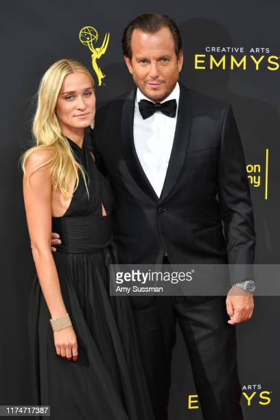 Alessandra Brawn and Will Arnett attend the 2019 Creative Arts Emmy Awards on September 14 2019 in Los Angeles California