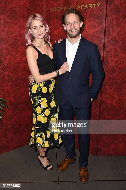 Alessandra Brawn Neidich and Jon Neidich attend the Dolce Gabbana pyjama party at 5th Avenue Boutique on March 15 2016 in New York City