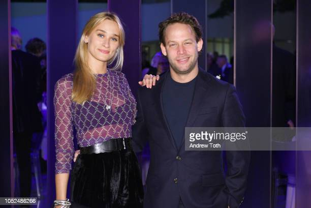 Alessandra Brawn Neidich and Jon Neidich attend the Hugo Boss Prize 2018 Artists Dinner at the Guggenheim Museum on October 18 2018 in New York City