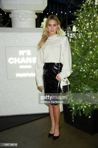 Alessandra Brawn wearing CHANEL attends the CHANEL party to celebrate the debut of CHANEL N5 In The Snow at The Standard High Line on December 10...