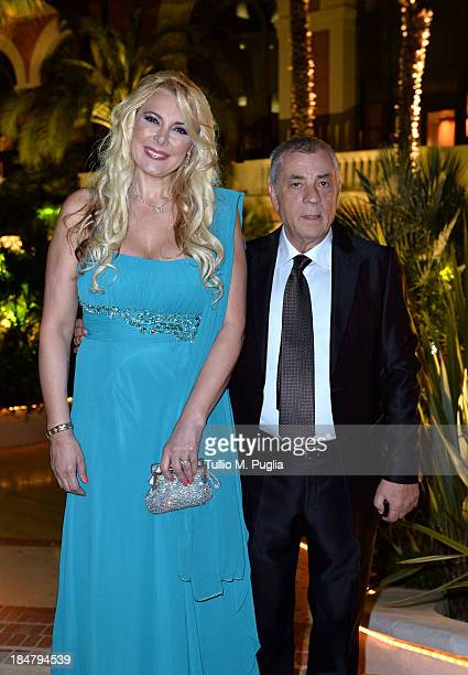 Alessandra Canale and Antonio Caliendo attend the Golden Foot Award 2013 ceremony at MonteCarlo Bay Hotel on October 16 2013 in MonteCarlo Monaco