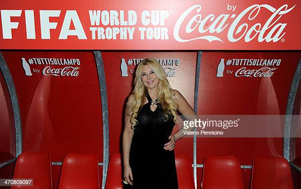 Alessandra Canale attends a party during day two of the FIFA World Cup Trophy Tour on February 20 2014 in Rome Italy