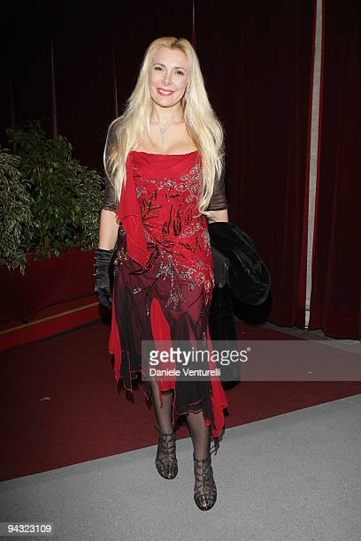 WEEKS Alessandra Canale attends the 'Tosca amore disperato' at the Gran Teatro Theatre on December 11 2009 in Rome Italy