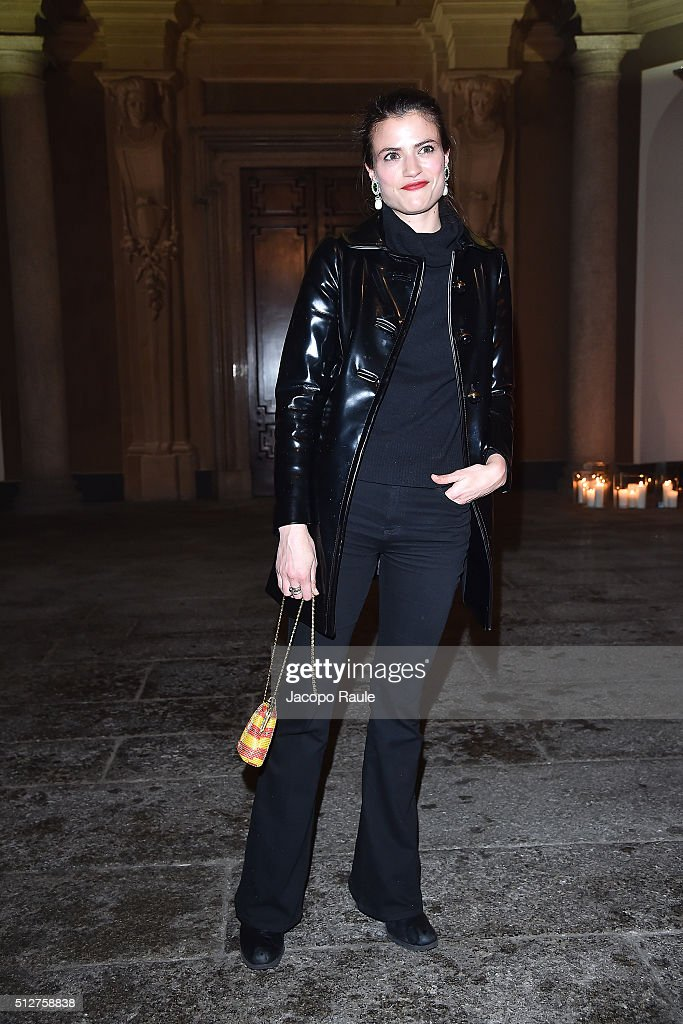 Alessandra Codinha attends Vogue Cocktail Party honoring photographer Mario Testino on February 27, 2016 in Milan, Italy.