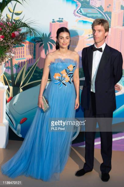 Alessandra de Osma and husband Christian of Hanover attend the Rose Ball 2019 on March 30 2019 in Monaco