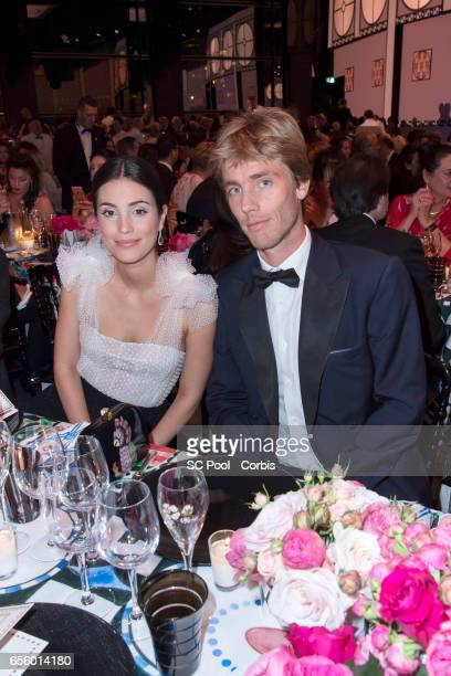 Alessandra de Osma and Prince Christian of Hanover attend the Rose Ball 2017 Secession Viennoise To Benefit The Princess Grace Foundation at Sporting...