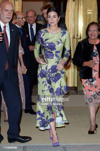 Alessandra de Osma attends a reception offered by Peruvian president Martin Alberto Vizcarra in honour of King Felipe VI of Spain and Queen Letizia...