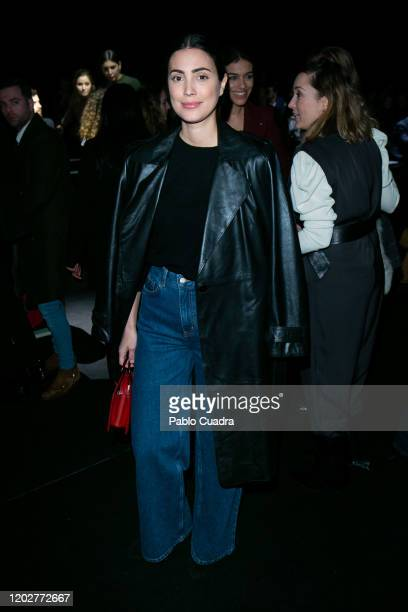 Alessandra de Osma attends Miguel Marinero fashion show during the Merecedes Benz Fashion Week Autum/Winter 202021 at Ifema on January 29 2020 in...