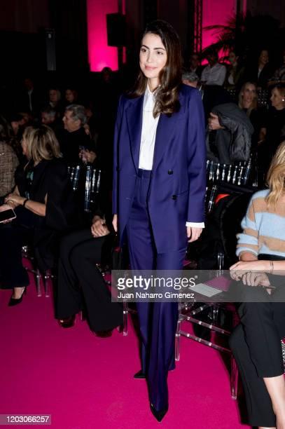Alessandra de Osma attends Pertegaz fashion show during the Merecedes Benz Fashion Week Autum/Winter 202021 at Ifema on January 30 2020 in Madrid...