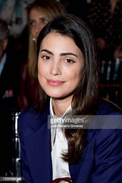 Alessandra de Osma attends Pertegaz fashion show during the Merecedes Benz Fashion Week Autum/Winter 2020-21 at Ifema on January 30, 2020 in Madrid,...
