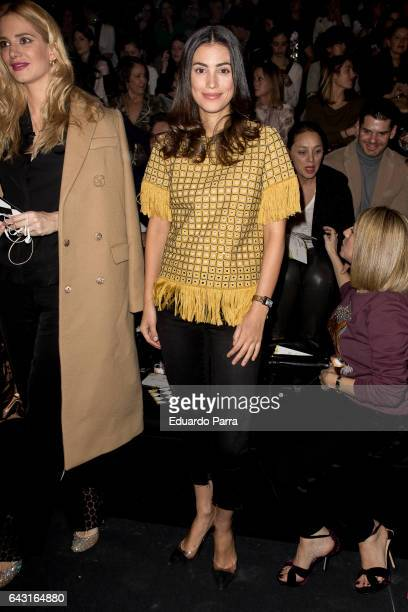 Alessandra de Osma attends the front row of Jorge Vazquez show during Mercedes Benz Fashion Week Madrid Autumn / Winter 2017 at Ifema on February 20...