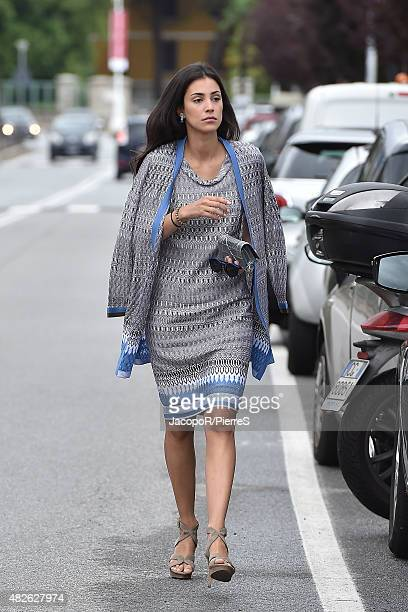 Alessandra De Osma is seen on August 1 2015 in STRESA Italy