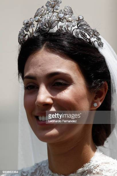Alessandra de Osma smiles during her wedding with Prince Christian of Hanover at Basilica San Pedro on March 16 2018 in Lima Peru