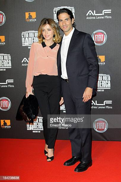 Alessandra Dinu and Luca Bastianello attend the 'C'era Una Volta In America Director's Cut' premiere at Space Moderno on October 16 2012 in Rome Italy