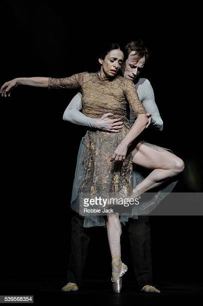 Alessandra Ferri and Edward Watson in the Royal Ballet's production of Wayne McGregor's Woolf Works at the Royal Opera House Covent Garden in London