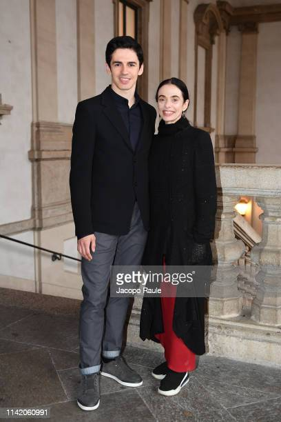 """Alessandra Ferri and Federico Bonelli attend the launch party for """"Milano - The City Of Style"""" on April 11, 2019 in Milan, Italy."""