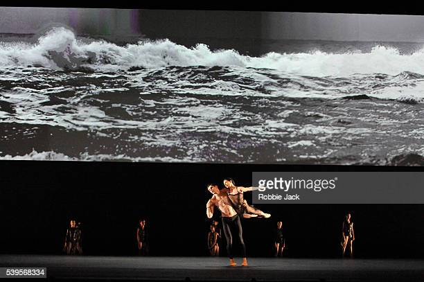Alessandra Ferri and Federico Bonelli with artists of the company in the Royal Ballet's production of Wayne McGregor's Woolf Works at the Royal Opera...