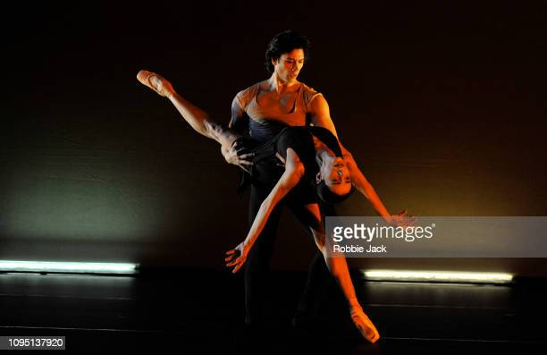 Alessandra Ferri and Herman Cornejo in Wayne McGregor's Witness at The Royal Opera House on January 16 2019 in London England