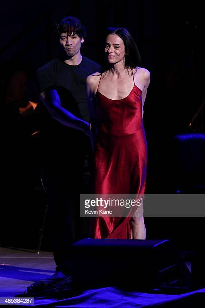 Alessandra Ferri and Herman Cornejo perform onstage at The 2014 Revlon Concert For The Rainforest Fund at Carnegie Hall on April 17 2014 in New York...