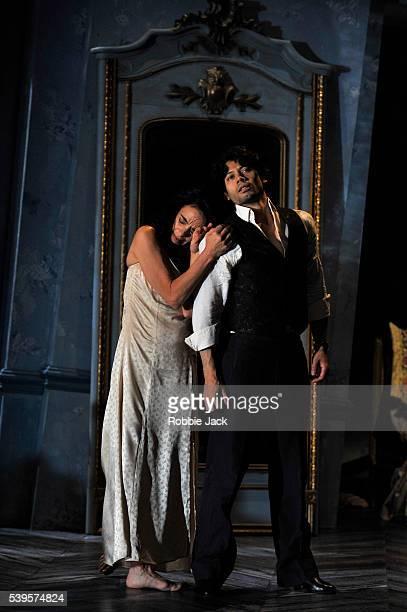 Alessandra Ferri as Léa and Herman Cornejo as Chéri in Martha Clarke's Chéri at the Linbury Studio Theatre Royal Opera House Covent Garden in London