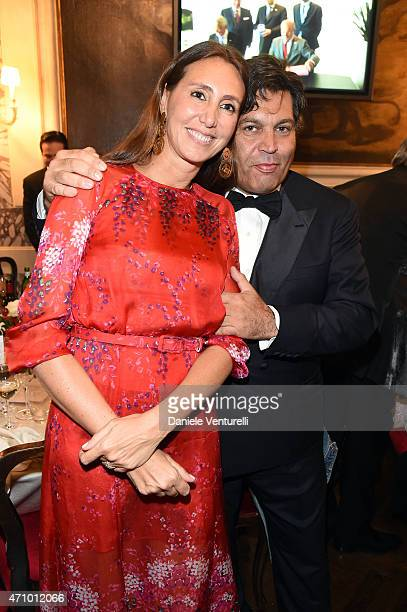 Alessandra Ferruzzi and Massimiliano Ferruzzi attend Prince Albert II Of Monaco Foundation Gala Dinner on April 24 2015 in Venice Italy