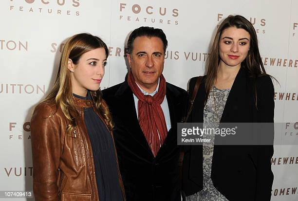 Alessandra GarciaLorido Actor Andy Garcia and Dominik GarciaLorido arrive at Focus Features' 'Somewhere' premiere at ArcLight Hollywood on December 7...